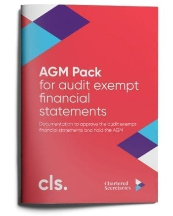 AGM pack exempt financial statements