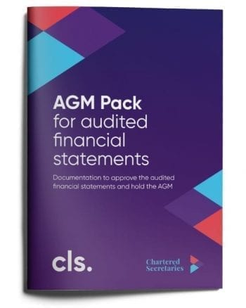 agm pack for audited financial statements