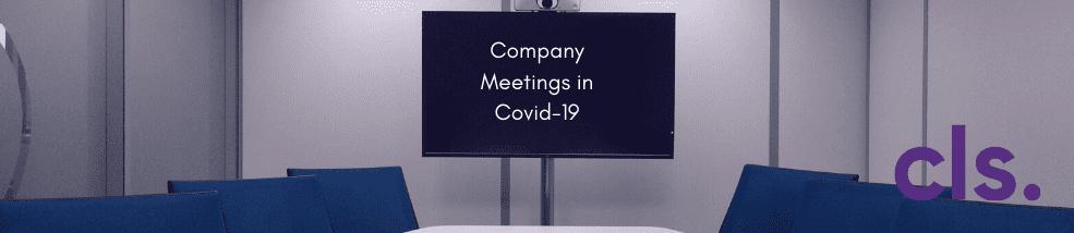 Company Meetings Covid19
